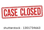 case closed sign or stamp on... | Shutterstock .eps vector #1301734663