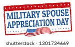 military spouse day sign or... | Shutterstock .eps vector #1301734669