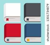 vector icon set of books. books ... | Shutterstock .eps vector #1301734879