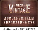 vector of vintage alphabet and... | Shutterstock .eps vector #1301738929