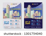 corporate business flyer poster ... | Shutterstock .eps vector #1301754040