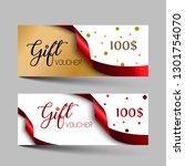 valentines day luxury gift... | Shutterstock .eps vector #1301754070