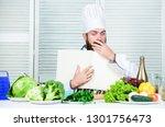 book recipes copy space. man... | Shutterstock . vector #1301756473