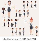 set office workers. business... | Shutterstock . vector #1301760760