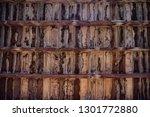 brown wooden texture flooring... | Shutterstock . vector #1301772880