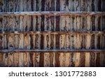 brown wooden texture flooring... | Shutterstock . vector #1301772883