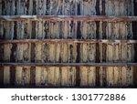 brown wooden texture flooring... | Shutterstock . vector #1301772886