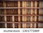 brown wooden texture flooring... | Shutterstock . vector #1301772889
