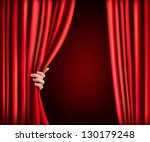 background with red velvet... | Shutterstock .eps vector #130179248