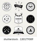camping labels set | Shutterstock .eps vector #130179389