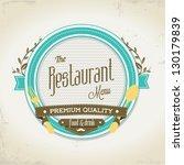 restaurant menu design | Shutterstock .eps vector #130179839