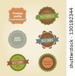 vector illustration. collection ... | Shutterstock .eps vector #130182344