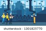 team work people in factory... | Shutterstock .eps vector #1301825770