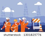 team work people in... | Shutterstock .eps vector #1301825776
