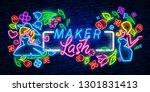 lash maker lettering logo... | Shutterstock .eps vector #1301831413