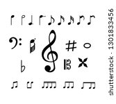 collection of music note icon | Shutterstock .eps vector #1301833456