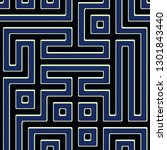 seamless colorful maze pattern | Shutterstock . vector #1301843440