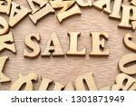 word news made with wooden... | Shutterstock . vector #1301871949