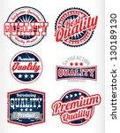 premium quality vintage labels... | Shutterstock .eps vector #130189130