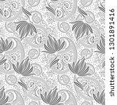 seamless black and white... | Shutterstock .eps vector #1301891416