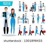doctor and nurse vector...   Shutterstock .eps vector #1301898433