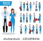 doctor and nurse vector... | Shutterstock .eps vector #1301898436