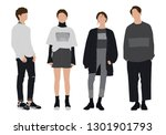 vector  casual  isolated ... | Shutterstock .eps vector #1301901793