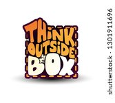 think outside the box   funny... | Shutterstock .eps vector #1301911696
