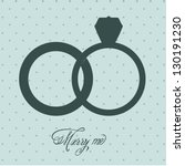 Illustration of Wedding Icons and Concepts Wedding, engagement rings, vector illustration