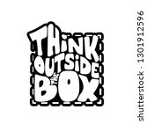 think outside the box   funny... | Shutterstock .eps vector #1301912596
