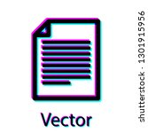black document icon isolated on ... | Shutterstock .eps vector #1301915956