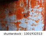 rusty red on the wall of the... | Shutterstock . vector #1301932513