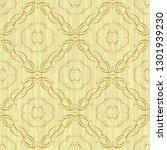 calligraphy decorative seamless ... | Shutterstock . vector #1301939230