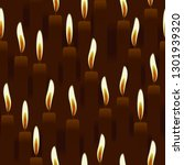 seamless burning candle  church ... | Shutterstock . vector #1301939320