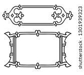russian style black ornamental... | Shutterstock . vector #1301939323