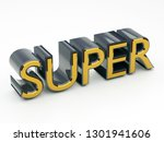 super metallic text word tag 3d ... | Shutterstock . vector #1301941606