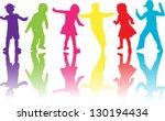 group of children | Shutterstock .eps vector #130194434