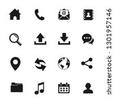 web icon set. set of web icon... | Shutterstock .eps vector #1301957146