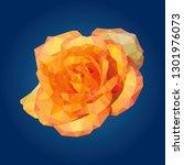yellow rose flower wallpaper on ... | Shutterstock .eps vector #1301976073