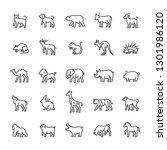 animal  wild  zoo icon set.... | Shutterstock .eps vector #1301986120