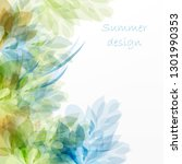abstract floral background for... | Shutterstock .eps vector #1301990353