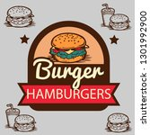 logo burger vector | Shutterstock .eps vector #1301992900