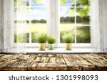 desk of free space and white... | Shutterstock . vector #1301998093