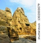 Masroor or Masrur Rock Temple Kangra Himachal Pradesh india