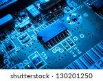 electronic board toned blue | Shutterstock . vector #130201250