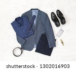 Suit Jacket  Pants  Blue Shirt...
