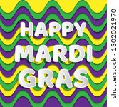happy mardi gras for banner... | Shutterstock .eps vector #1302021970