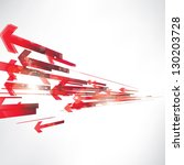 abstract background with arrows | Shutterstock . vector #130203728