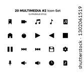 top 20 simple set of multimedia ... | Shutterstock .eps vector #1302061519