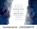 magic night dark blue sky with... | Shutterstock .eps vector #1302068479